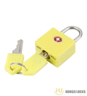 TSA包塑铜挂锁HJ-Z01