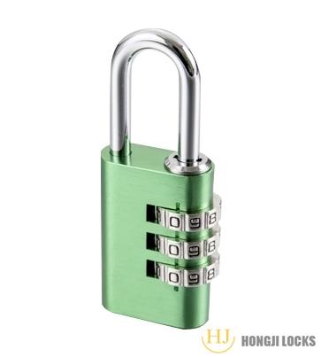 铝合金三位密码挂锁HJ-M05